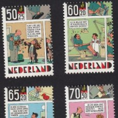 Cómics: JOOST SWARTE. SERIE 4 SELLOS CORREOS. HOLANDA 1992. Lote 278317963