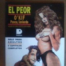 Cómics: EL PEOR (PANCU - JAVIERDO) ALBUMES DE COMICS EROTICOS (DOEDYTORES) - COMO NUEVO. Lote 56093193