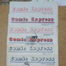 Cómics: COMIC EXPRESS NUMEROS 1 A 7 (OCTUBRE 1990 A JUNIO 2001) - CATALOGO DE COMICS - OFM15. Lote 233222580