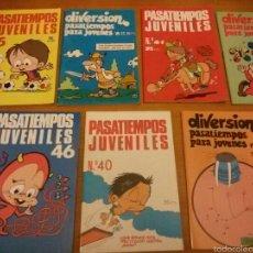 Cómics: 7 PASATIEMPOS JUVENILES / ED. IRU / 1986-87 / SIN ESTRENAR!!!!. Lote 56317922