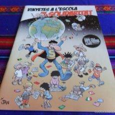 Cómics: VINYETES A L'ESCOLA PER LA SOLIDARITAT CON SUPERLOPEZ SUPER LOPEZ DE JAN EN PORTADA. 2011. RARO. MBE. Lote 56508003