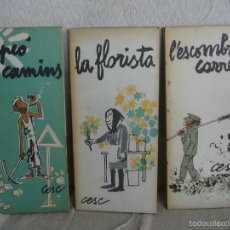 Cómics: EL PEÓ DE CAMINS + LA FLORISTA + L'ESCOMBRA CARREES. Lote 57123468
