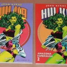 Cómics: HULKA - AMAZONA ESMERALDA 1 2 - JOHN BYRNE, COMPLETA , PLANETA, AÑO 1996 - NUEVOS (PRECINTADOS). Lote 57362283