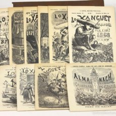 Cómics: 7628 - LOTE DE 10 FACSIMILS D'ALMANACS HUMORISTÍCS. VARIOS AÑOS. VV. AA.(VER DESCRIP). 1865-1874.. Lote 57379975