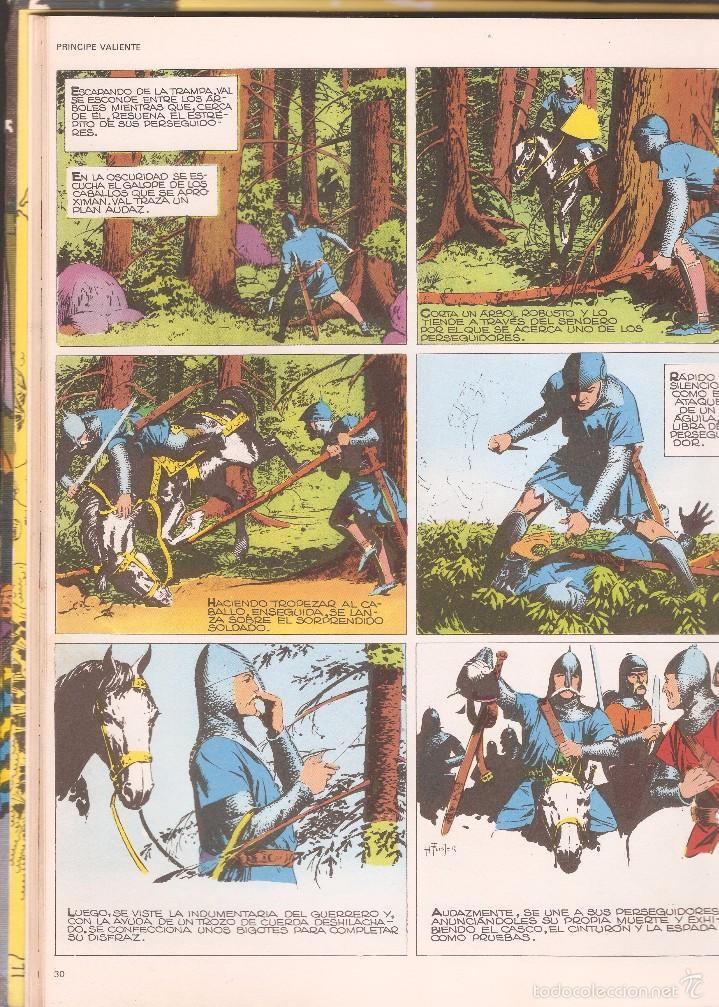 Cómics: PRÍNCIPE VALIENTE - LOS CABALLEROS DE LA TABLA REDONDA HEROES DEL COMIC TOMO I - BURU LAN ED., 1972. - Foto 2 - 57470522