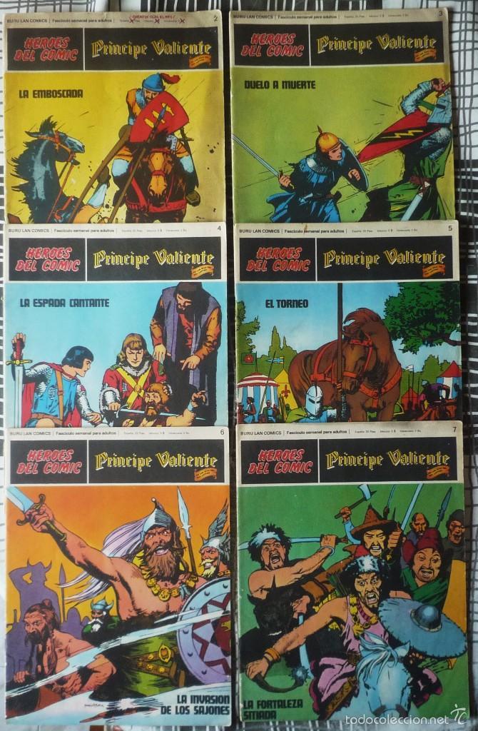 SEIS COMICS DEL PRINCIPE VALIENTE (Tebeos y Comics - Buru-Lan - Principe Valiente)