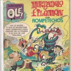Cómics: OLÉ!. Nº 243-M 54. MONTADELO Y FILEMÓN CON ROMPETECHOS. EDICIONES B. 1987. (Z/C2). Lote 57526753