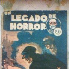 Cómics: UN LEGADO DE HORROR - BIBIOLIOTECA SEXTON BLAKE - Nº 57 - ARGENTINA - 1932. Lote 57557990