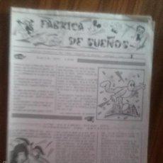 Cómics: FABRICA DE SUEÑOS 1. BOLETÍN INFORMATIVO DE CHAMBERI ME REMATA. FEBRERO 1999. 8 PÁGINAS A4. RARO. Lote 58555334