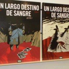 Cómics: UN LARGO DESTINO DE SANGRE COMPLETA 2 TOMOS - 12 BIS OFERTA. Lote 156091022