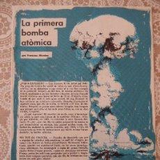 Cómics: LA PRIMERA BOMBA ATÒMICA - FRANCESC NICOLAU. Lote 58649785