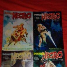 Cómics: LOTE DE 4 COMICS DE TERROR DOSSIER NEGRO. Lote 58841041