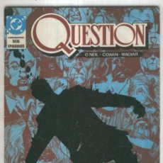 Cómics: THE QUESTION, VOL.1 NO.02: MARIPOSA, MARIPOSA. Lote 55658367
