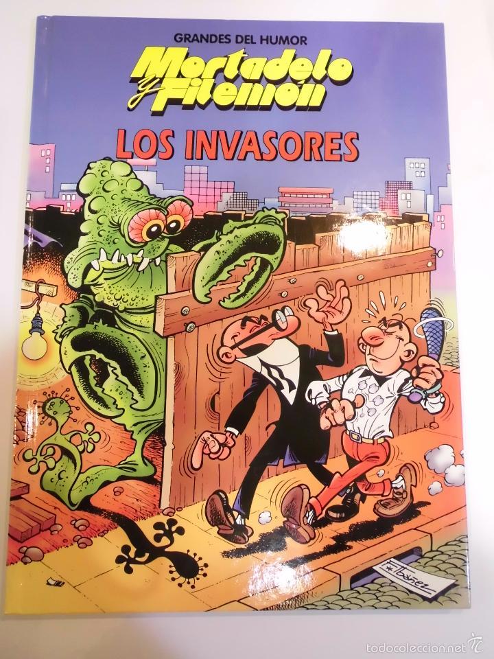 MORTADELO Y FILEMON - LOS INVASORES - NUM 17 - TAPA DURA- F IBAÑEZ - EL PERIODICO 1996 (Tebeos y Comics Pendientes de Clasificar)