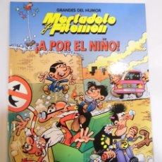 Cómics: MORTADELO Y FILEMON - A POR EL NIÑO - NUM 9 - TAPA DURA- F IBAÑEZ - EL PERIODICO 1996. Lote 60374399