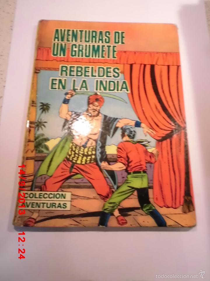 AVENTURAS DE UN GRUMETE - REBELDES EN LA INDIA- TAPA DURA - PRODUCCIONES EDITORIALES 1973 (Tebeos y Comics Pendientes de Clasificar)