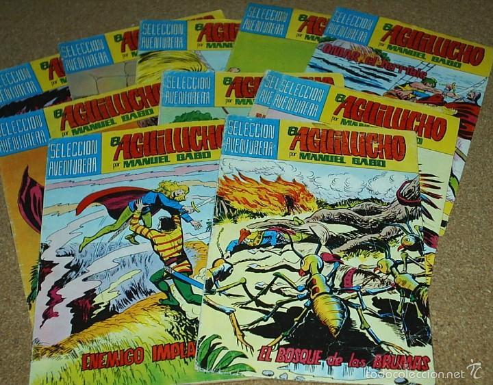 EL AGUILUCHO - LOTE DE 14 TEBEOS - VALENCIANA 1981 - BUEN ESTADO- IMPORTANTE LEER DSCRIPCION (Tebeos y Comics - Comics Pequeños Lotes de Conjunto)