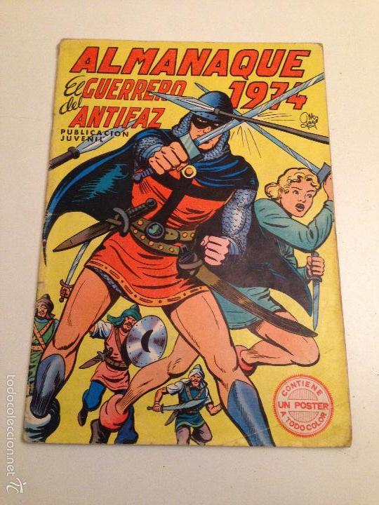 EXTRA EL GUERRERO DEL ANTIFAZ. ALMANAQUE 1974. VALENCIANA (Tebeos y Comics - Comics Pequeños Lotes de Conjunto)
