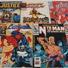 Cómics: IRON MAN, NTH MAN, JUSTICE, EL CASTIGADOR. SUB-MARINER. LOTE 9 COMICS MARVEL, EPIC COMICS. FORUM.. Lote 61209467