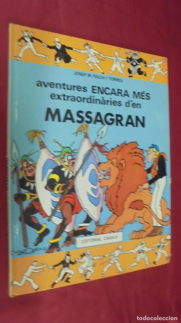 MASSAGRAN. Nº 2. AVENTURES ENCARA MÉS EXTRAORDINARIES D'EN MASSAGRAN. EDITORIAL CASALS. EN CATALÁ. (Tebeos y Comics Pendientes de Clasificar)