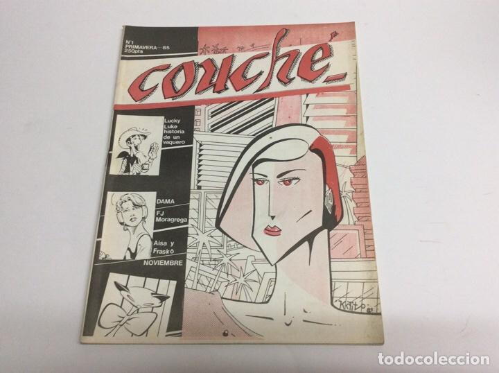 COUCHE - CONTIENE HISTORIAS CORTAS COMPLETAS, UN REPORTAJE DE 8 PAGINAS SOBRE LUCKY LUKE 1985 (Tebeos y Comics Pendientes de Clasificar)
