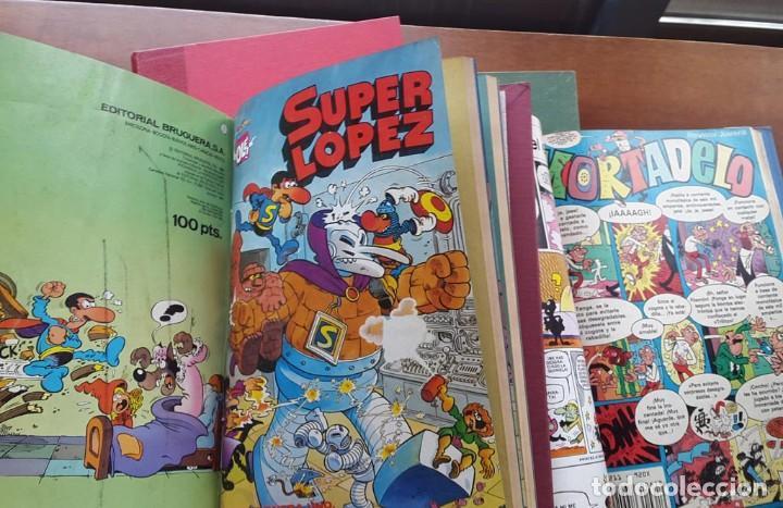 SUPER LÓPEZ Nº1 , MORTADELO Y FILEMON, BOTONES SACARINO, ZIPI ZAPE. (Tebeos y Comics - Comics Pequeños Lotes de Conjunto)