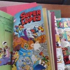 Cómics: SUPER LÓPEZ Nº1 , MORTADELO Y FILEMON, BOTONES SACARINO, ZIPI ZAPE.. Lote 61852628