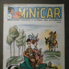 Cómics: TEBEO MINICAR - Nº 14 - SEMANARIO INFANTIL Y JUVENIL DEL AUTOMOVIL - RECORTABLE FIAT 1300-1500 -1966. Lote 62061456