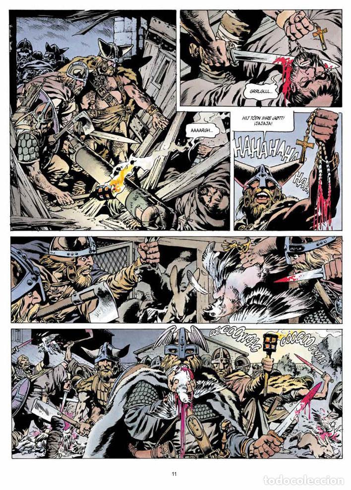 Cómics: Cómics. CRONICAS BARBARAS 01. LA FURIA DE LOS VIKINGOS - Jean-Yves Mitton (Cartoné) - Foto 4 - 111622639