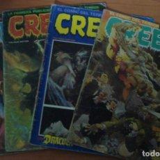 Cómics: LOTE DE 5 COMICS CREEPY. EDITORIAL TOUTAIN.. Lote 62726524