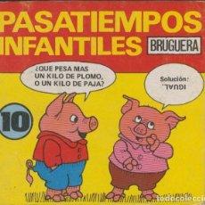 Cómics: PASATIEMPOS INFANTILES NUMERO 10. Lote 55551150
