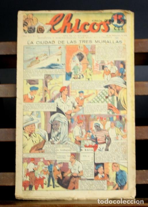 Cómics: 8088 - CHICOS. 209 EJEMPLARES (VER DESCRIP). VV. AA. TALLERES OFFSET. AÑOS 40-50. - Foto 2 - 63179196