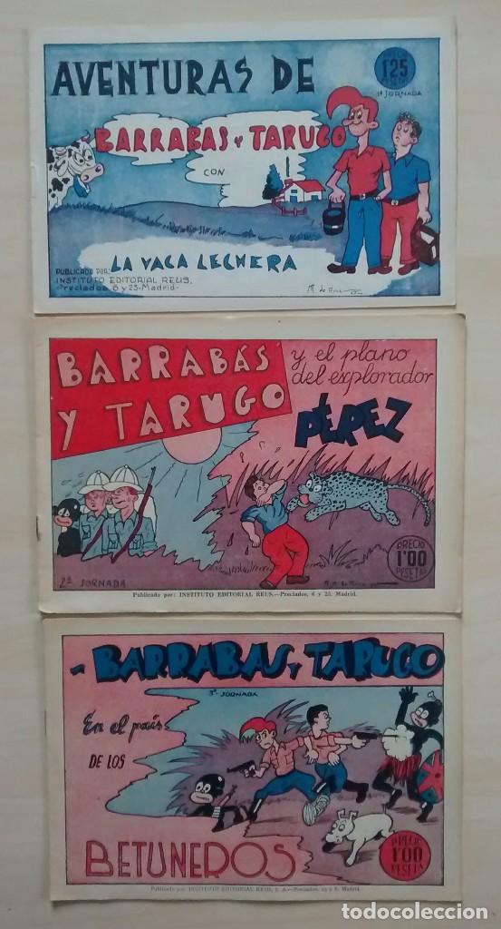 BARRABÁS Y TARUGO - ED. REUS - 1947 / NÚMEROS 1, 2 Y 3 (COMPLETA) (Tebeos y Comics - Comics Pequeños Lotes de Conjunto)