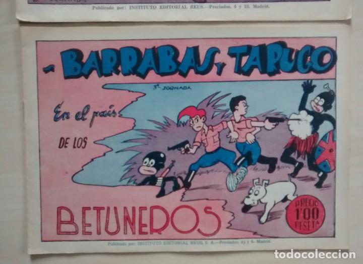 Cómics: Barrabás y Tarugo - Ed. Reus - 1947 / números 1, 2 y 3 (completa) - Foto 5 - 63298796