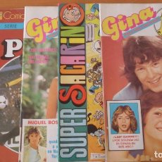 Cómics: LOTE DE 4 COMICS: SUPER SACARINO, GINA. BRUGUERA.. Lote 64402335
