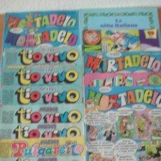 Lote de 12 comics: Mortadelo, Pulgarcito, Tio Vivo, Super Sacarino, Zipi y Zape, David el Gnomo.
