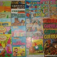 Cómics: LOTE DE 26 COMICS: COPITO, PULGARCITO, DAVID EL GNOMO, MORTADELO, ZIPI ZAPE, GUERRA, OESTE, ETC.... Lote 64405159