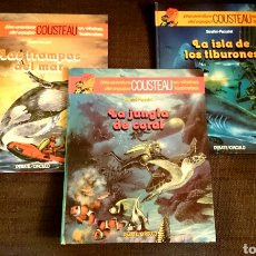 Cómics: JAQUES COUSTEAU.UNA AVENTURA DEL EQUIPO COUSTEAU-LOTE TRES LIBROS-DEBATE/CIRCULO 1AS EDICIONES 1985. Lote 64625430