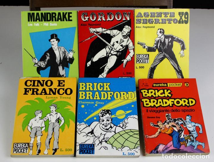 8146 - EDITORIAL CORNO. EUREKA POCKET. 6 EJEMPLARES(VER DESCRIPCIÓN). 1963/1976. (Tebeos y Comics - Comics Pequeños Lotes de Conjunto)