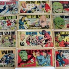 Cómics: COM-178. . DIEGO VALOR. LOTE DE 27 HISTORIETAS. AÑOS 50. EDICOLOR. MADRID. Lote 65753538