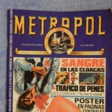 Cómics: COMIC - METROPOL - COMIC NEGRO - METRO COMICS - Nº 1 -. Lote 65764382