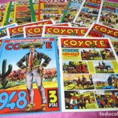Cómics: EL COYOTE 1 AL 40 + ALMANAQUE 1948 EXCELENTE ESTADO. REEDICION. Lote 67581705