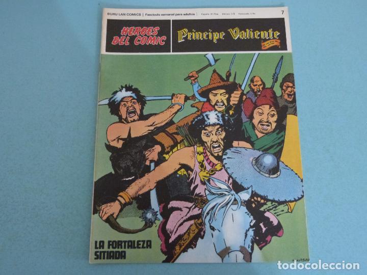 COMIC DE PRINCIPE VALIENTE LA FORTALEZA SITIADA AÑO 1972 Nº 7 DE BURU LAN COMICS LOTE 26 D (Tebeos y Comics - Buru-Lan - Principe Valiente)