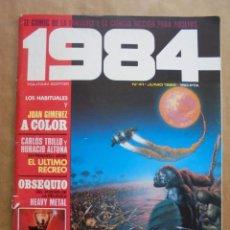 Fumetti: 1984 Nº 41 - CONTIENE POSTER HEAVY METAL RICHARD CORBEN - TOUTAIN. Lote 134983153