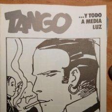 Cómics: CORTO MALTES. TANGO .... Y TODO A MEDIA LUZ - HUGO PRATT 4ª PARTE. Lote 70478713
