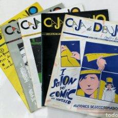 Cómics: CAJA DE DIBUJO. COLECCIÓN COMPLETA. 1984. NÚMEROS 0 1 2 3 Y 4. GASPAR MEANA, PERE JOAN, PIN.... Lote 71147579