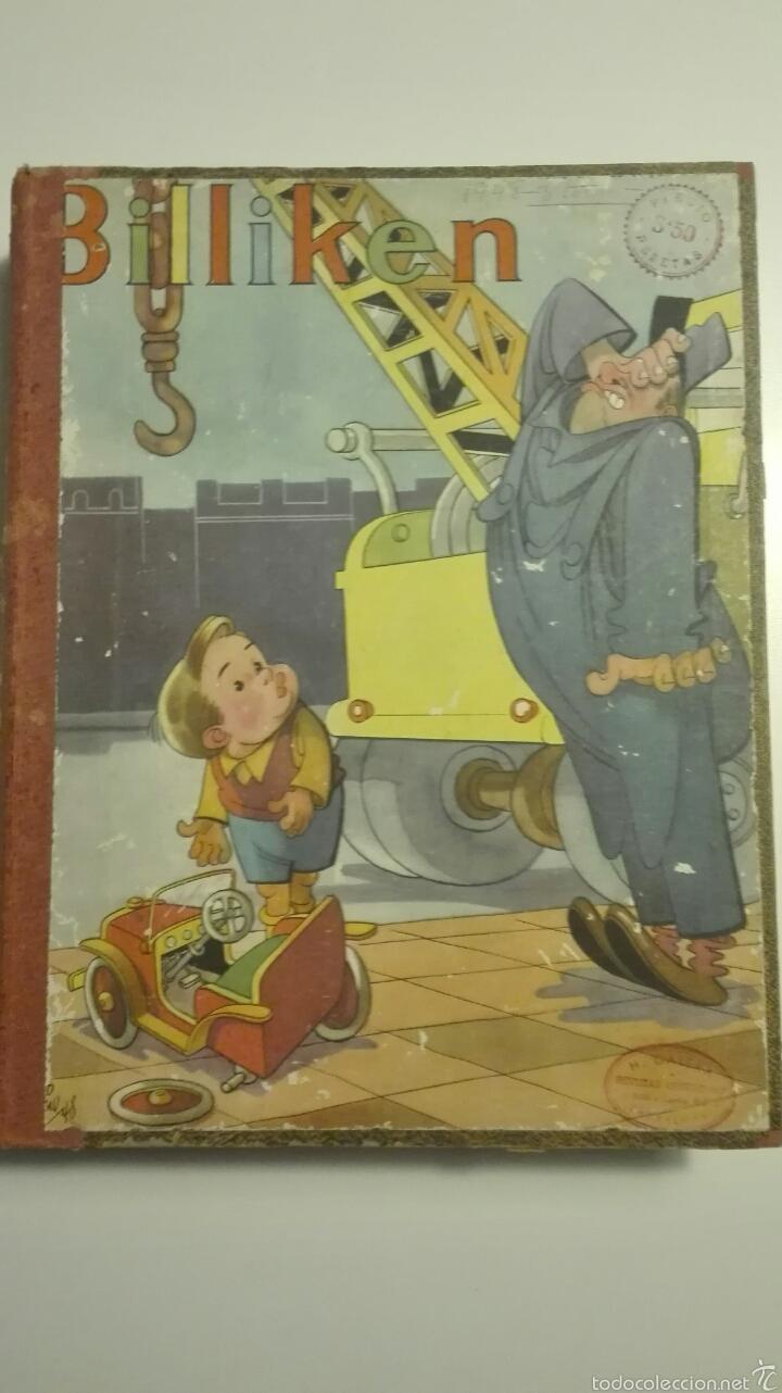 LIBRO DE TAPA DURA CON 16 REVISTAS DEL Nº1503 AL Nº1519 BILLIKEN 1948 (Tebeos y Comics Pendientes de Clasificar)