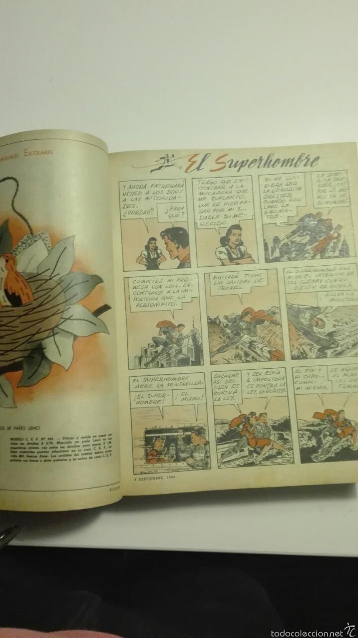 Cómics: libro de tapa dura con 16 revistas del nº1503 al nº1519 billiken 1948 - Foto 3 - 72174351