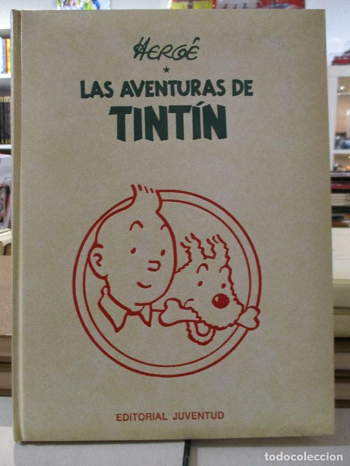 COLECCION COMPLETA LAS AVENTURAS DE TINTIN 7 TOMOS - EDICION DE LUJO - HERGE - JUVENTUD (Tebeos y Comics - Comics Colecciones y Lotes Avanzados)