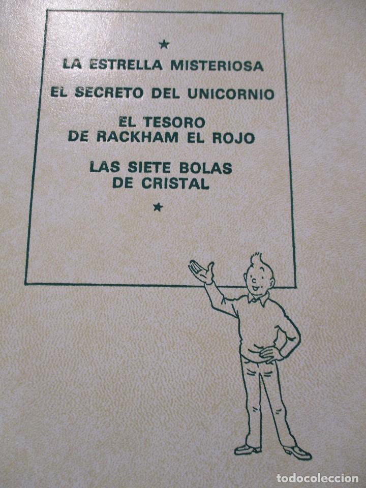 Cómics: COLECCION COMPLETA LAS AVENTURAS DE TINTIN 7 TOMOS - EDICION DE LUJO - HERGE - JUVENTUD - Foto 8 - 73076875